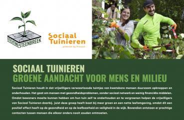 Sociaal Tuinieren opgenomen in Groene Menukaart van Steenbreek