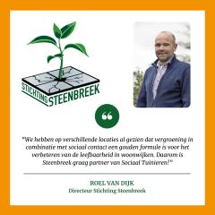 Steenbreek steunt initiatief Sociaal Tuinieren