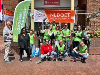 Tuinieren tijdens NLDoet in Amsterdam en Dordrecht